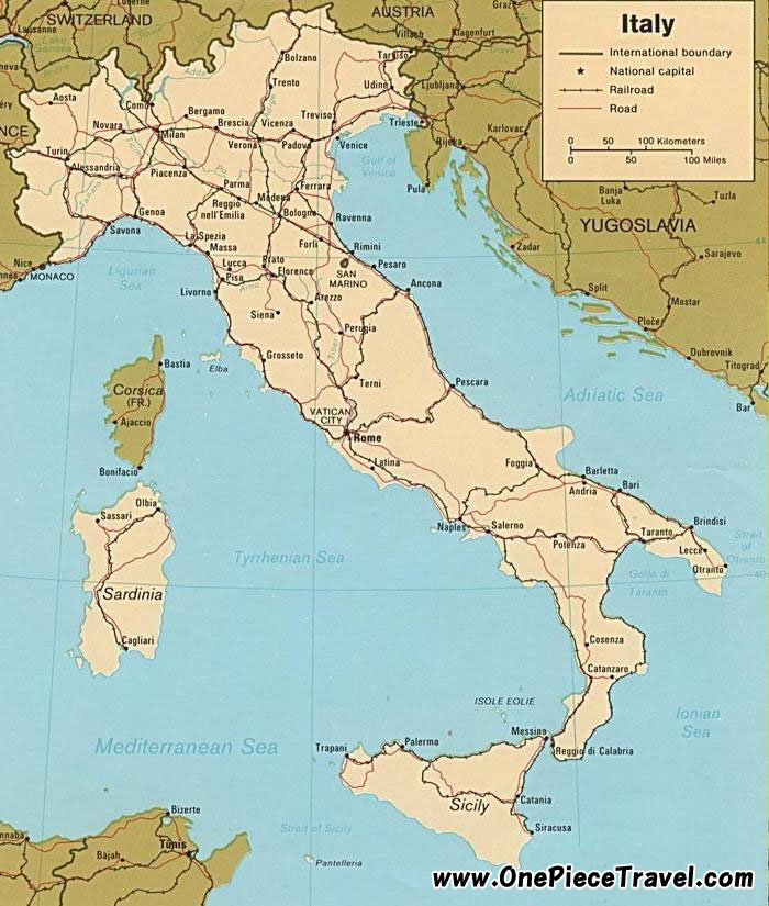 Italy Tourist Attractions and Travel – Italy Tourist Attractions Map