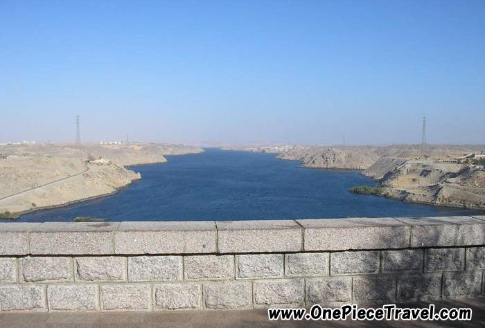 Aswan High Dam picture map, Egypt