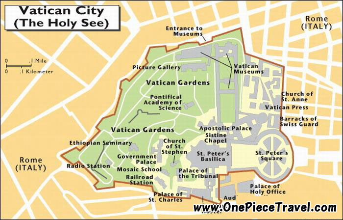 Map Of Rome Showing Vatican City – Map Of Rome Showing Tourist Attractions