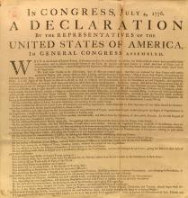 The unanimous Declaration of the thirteen united States of America, American Cul