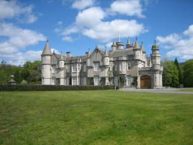 Balmoral Castle on the Balmoral Estate in Aberdeenshire, Scotland, UK