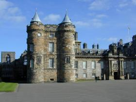 The Palace of Holyroodhouse in Edinburgh, Scotland, UK