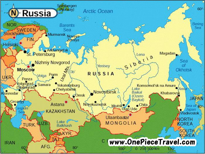 Russia Tourist Attractions and Travel – Tourist Attractions Map In Russia
