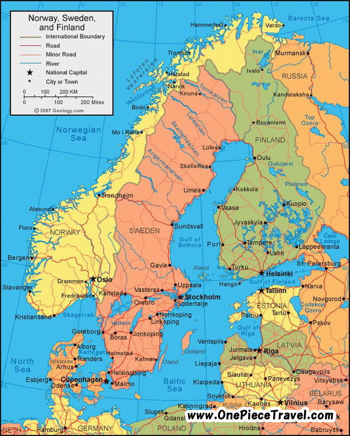 Finland Tourist Attractions and Travel – Finland Tourist Attractions Map