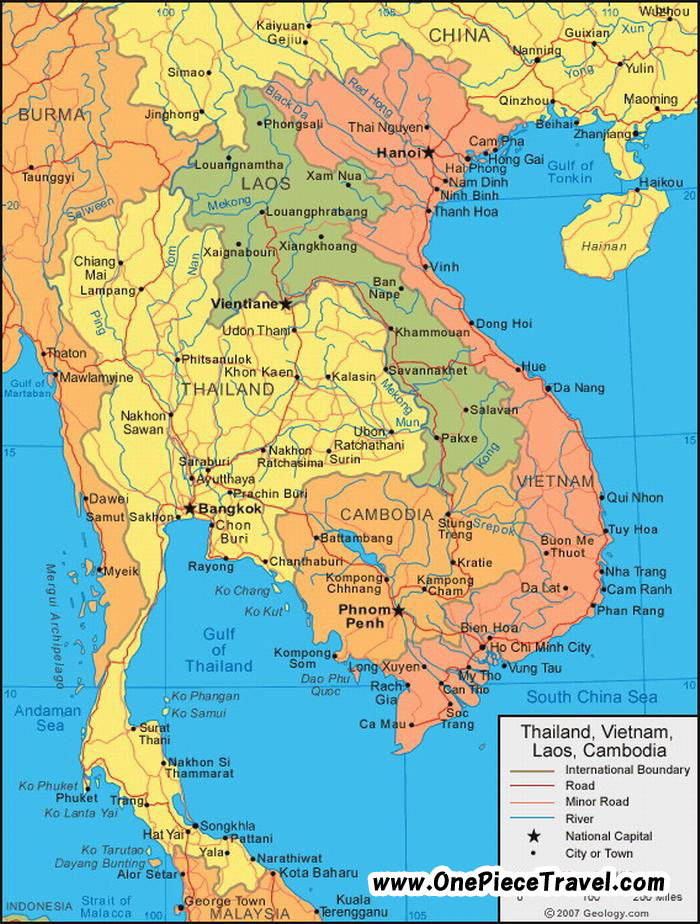 Cambodia Tourist Attractions and Travel – Cambodia Tourist Attractions Map