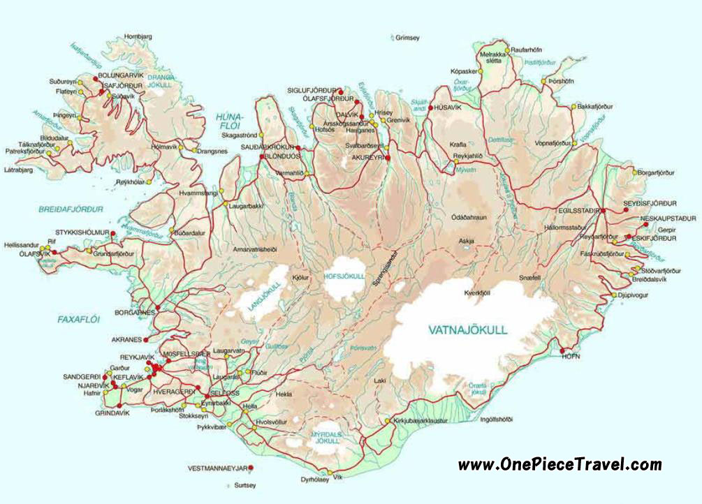 Iceland Tourist Attractions and Travel – Iceland Tourist Map
