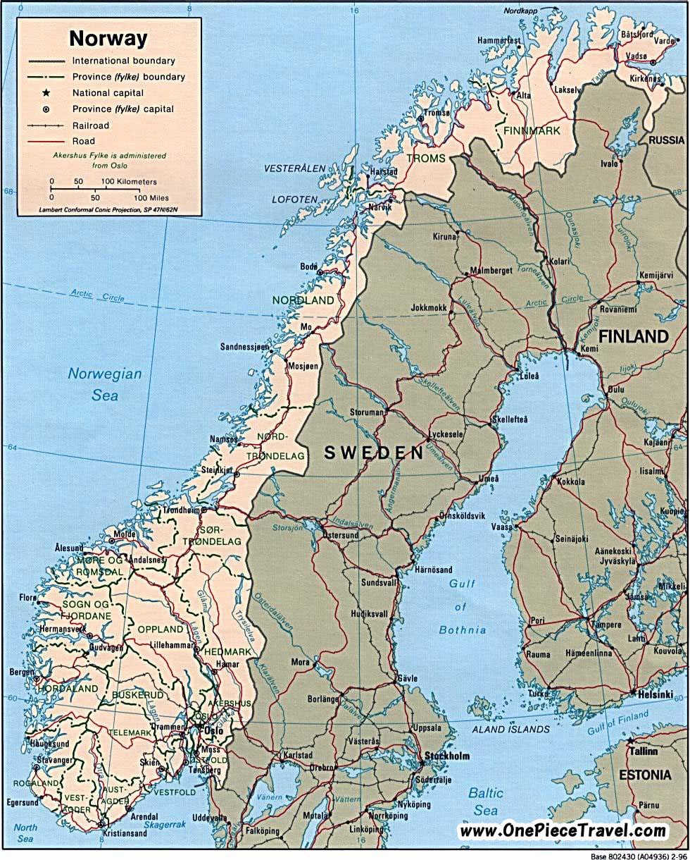 Norway Map Fjords – Norway Tourist Attractions Map