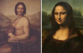 Naked Mona Lisa goes on show