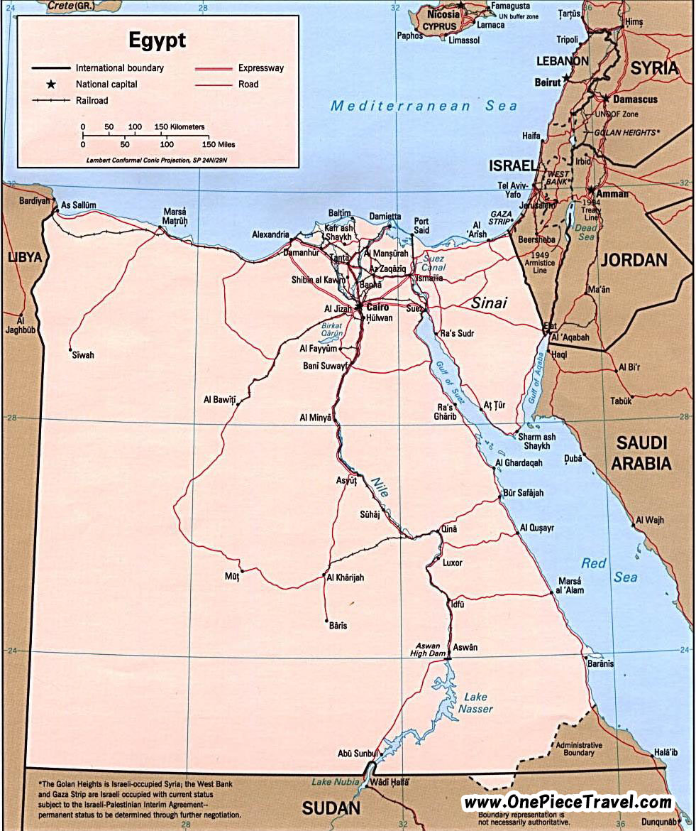 Egypt Tourist Attractions and Travel – Egypt Tourist Attractions Map