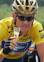 The bike sport legend Armstrong