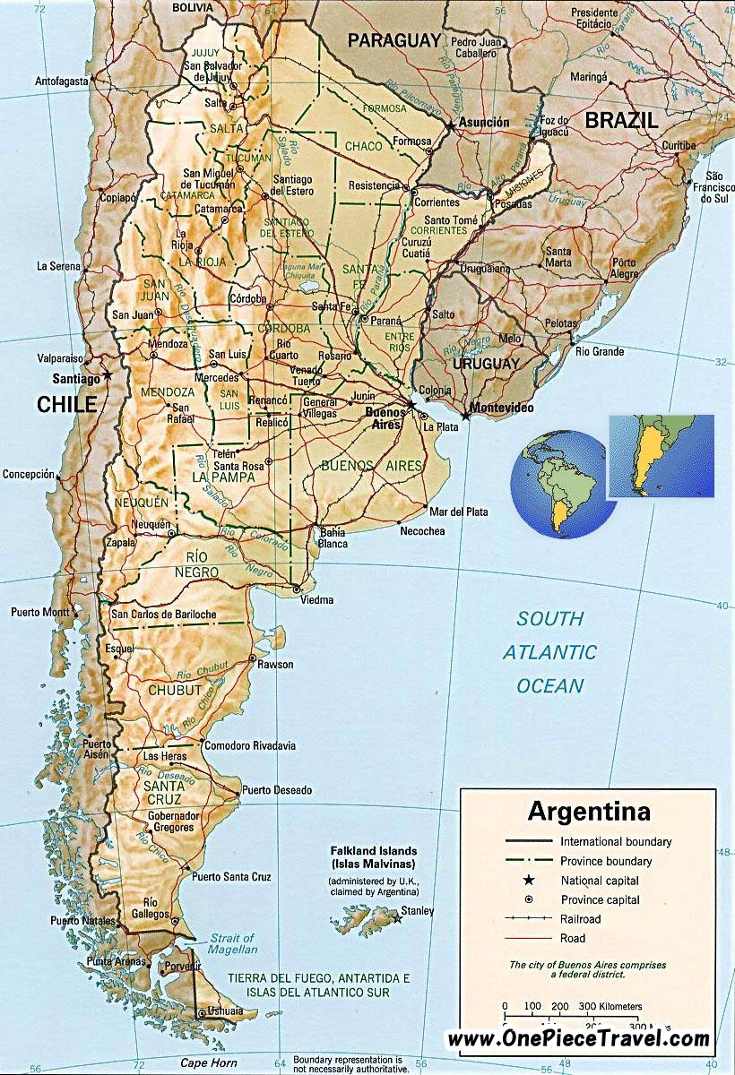 Argentina Tourist Attractions and Travel – Tourist Attractions Map In Argentina