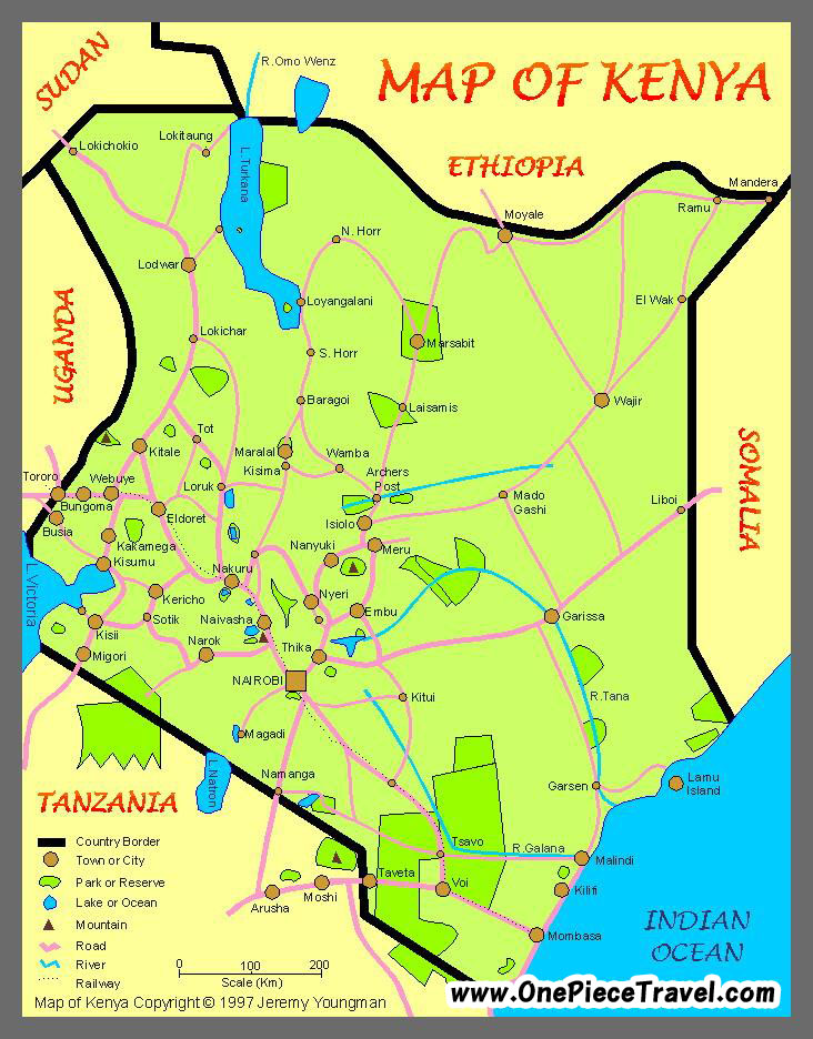 Kenya Tourist Attractions and Travel – Kenya Tourist Attractions Map