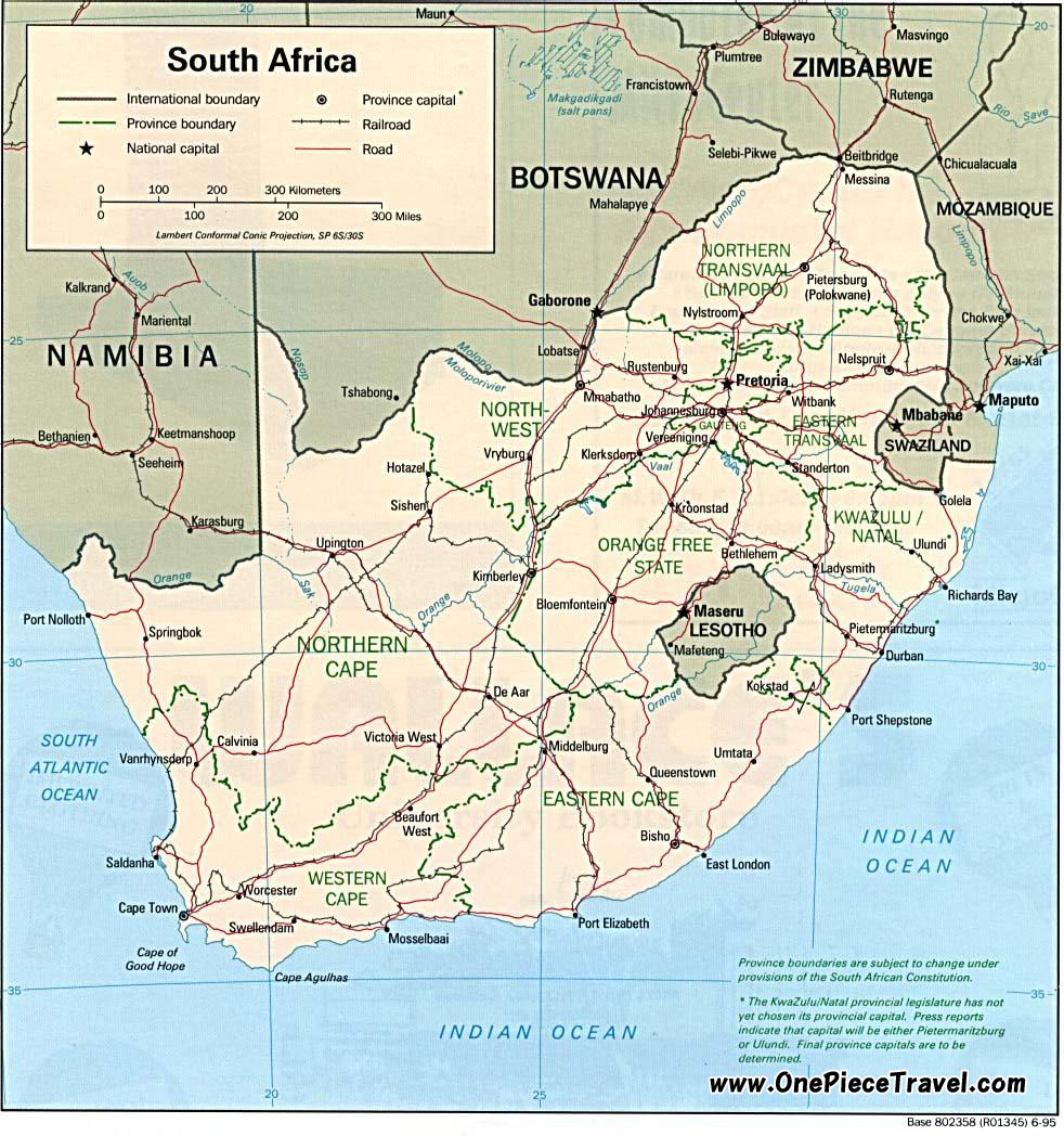 South Africa Tourist Attractions and Travel – Tourist Attractions Map In South Africa