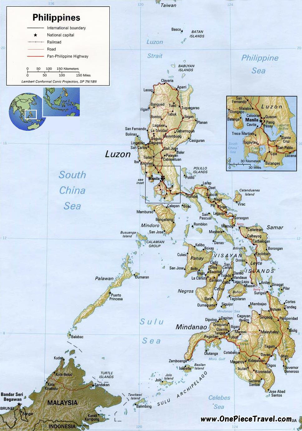 Philippines Tourist Attractions and Travel – Philippines Tourist Attractions Map