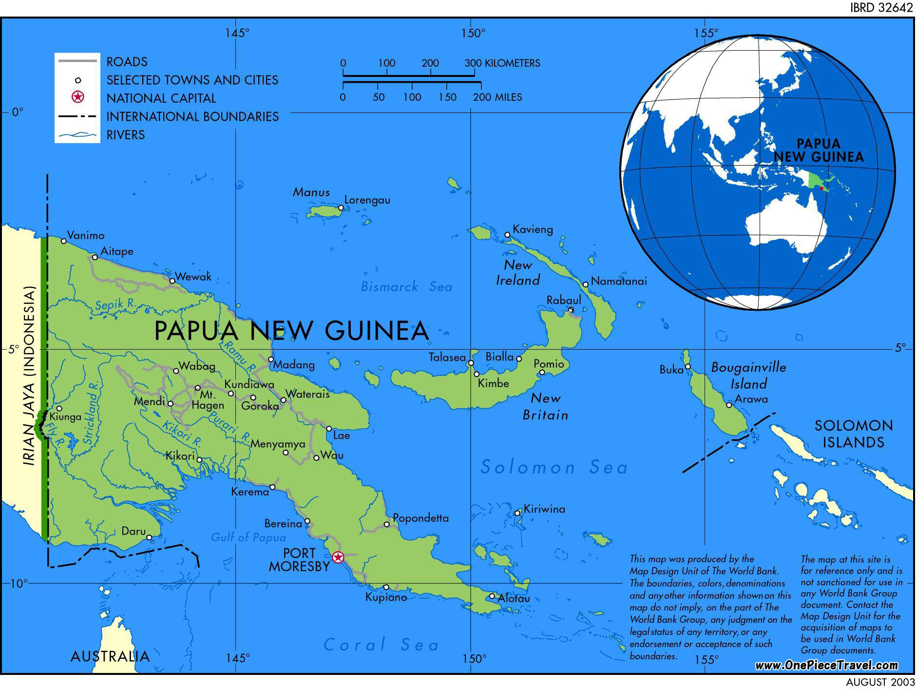 Download this Papua New Guinea Map picture