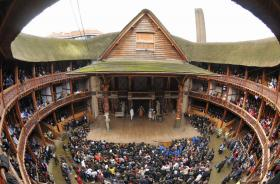 Shakespeares globe theatre, Bankside, London, UK